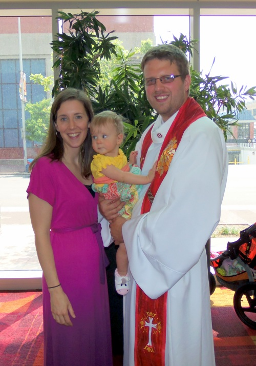 Daddy completed his final ordination process, here we are after the ceremony